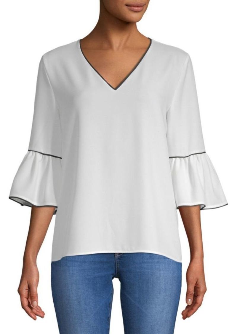 Calvin Klein Ruffled Bell-Sleeve Blouse