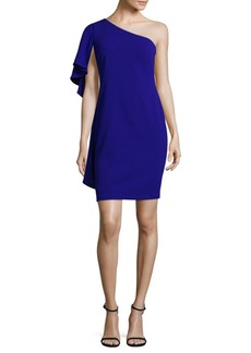 Calvin Klein Ruffled Cape Bodycon Dress