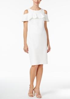 Calvin Klein Ruffled Cold-Shoulder Dress, Regular & Petite Sizes