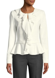 Calvin Klein Ruffled Crepe Jacket