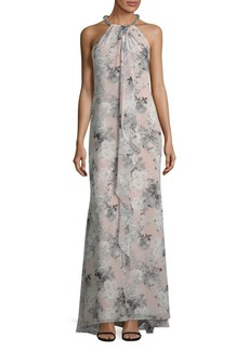 Ruffled Halterneck Maxi Dress