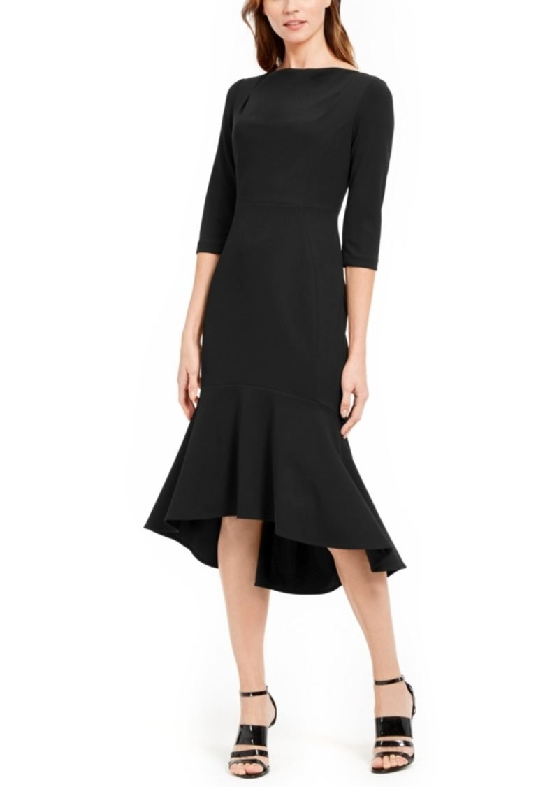 Calvin Klein Ruffled-Hem Midi Dress