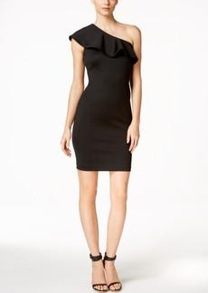 Calvin Klein Ruffled One-Shoulder Sheath Dress