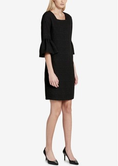 Calvin Klein Ruffled-Sleeve A-Line Dress