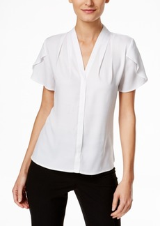 Calvin Klein Ruffled-Sleeve Blouse
