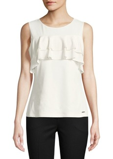 Ruffled Sleeveless Blouse