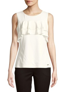 Calvin Klein Ruffled Sleeveless Blouse