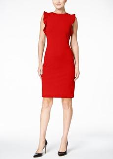 Calvin Klein Ruffled U-Back Sheath Dress