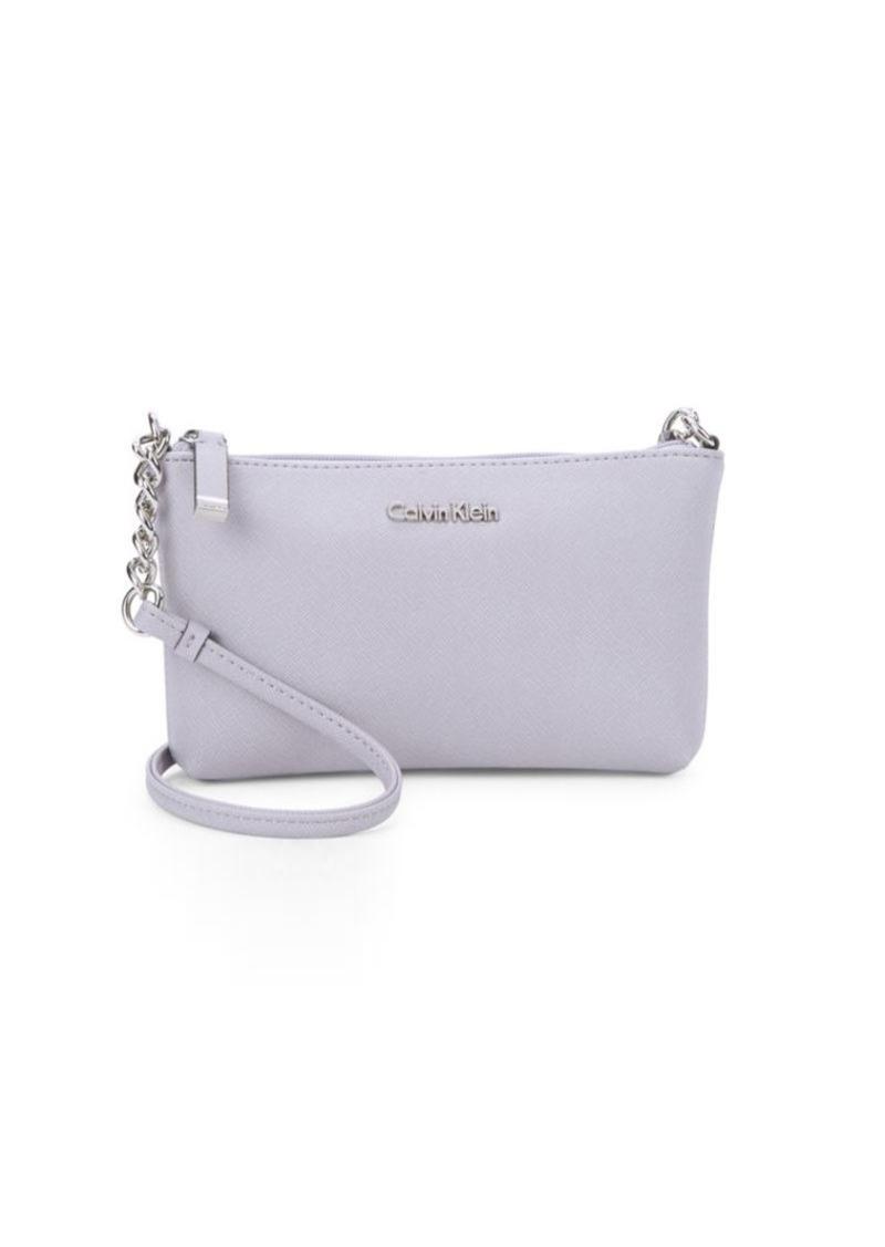 85a1b348e On Sale today! Calvin Klein Calvin Klein Saffiano Leather Crossbody Bag