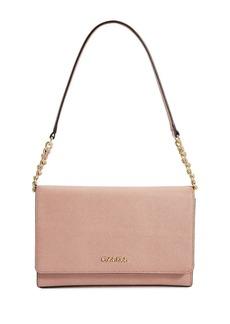 CALVIN KLEIN Saffiano Leather Shoulder Bag