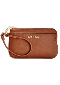 Calvin Klein Saffiano Leather Wristlet