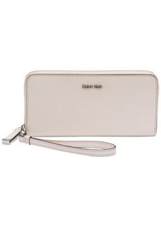 Calvin Klein Saffiano Leather Zip-Around Wallet