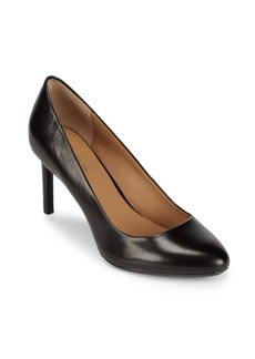 Calvin Klein Salsha Kid Skin Leather Pumps
