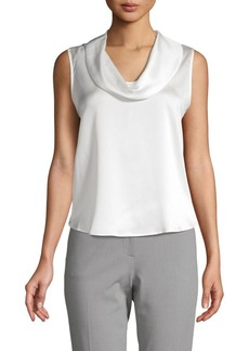 Calvin Klein Satin Cowl-Neck Top