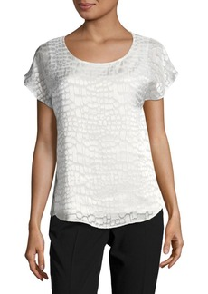 Calvin Klein Satin Textured Top