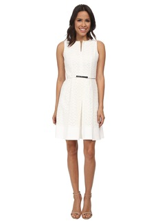 Calvin Klein Scalope Eyelet Dress