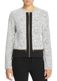 Calvin Klein Scuba Paneled Jacquard Jacket