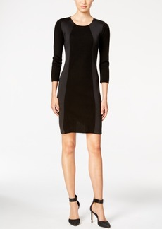 Calvin Klein Scuba-Trim Sweater Dress