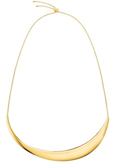 "Calvin Klein Sculptured Crescent Adjustable 15-3/4"" Choker Necklace"