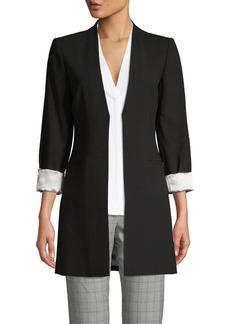 Calvin Klein Seam Open-Front Blazer