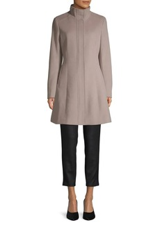 Calvin Klein Seam Wool-Blend Coat