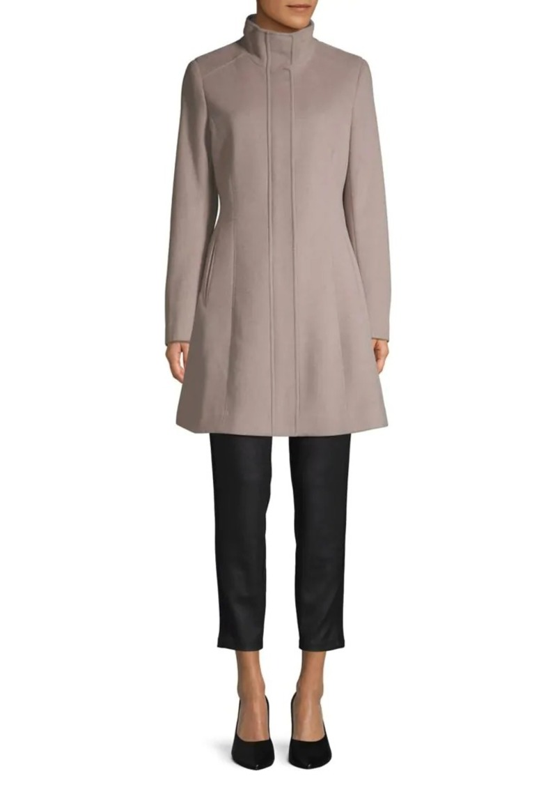 Calvin Klein Seam Wool-Blend Coat