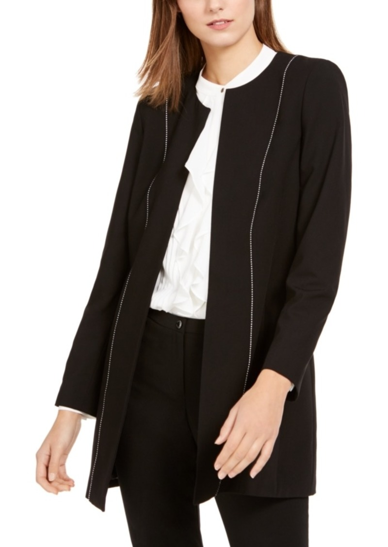 Calvin Klein Seamed Open-Front Topper Jacket