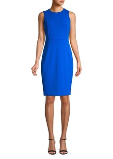Calvin Klein Seamed Sleeveless Sheath Dress