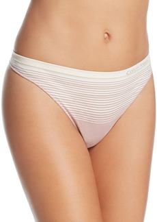 Calvin Klein Seamless Illusions Thong #QD3614