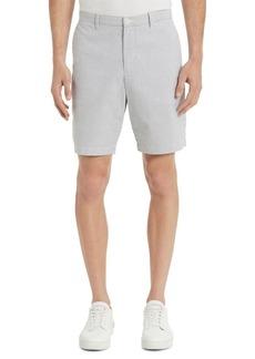 Calvin Klein Classic-Fit Seersucker Flat-Front Shorts