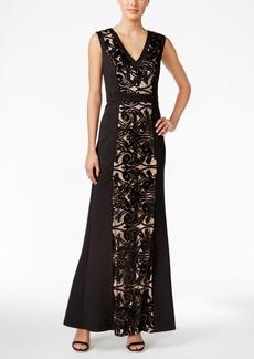 Calvin Klein Sequin-Lace Scuba Gown