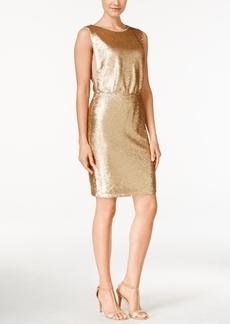 Calvin Klein Sequined Blouson Sheath Dress
