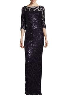 Calvin Klein Sequined Column Gown