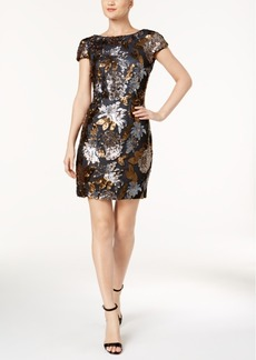 Calvin Klein Sequined Cowl-Back Dress