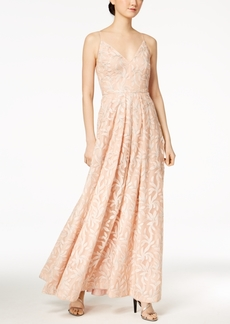 Calvin Klein Sequined Embroidered Gown