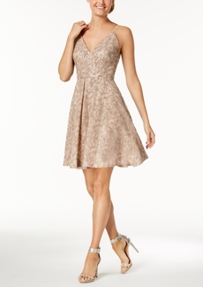 Calvin Klein Sequined Lace Fit & Flare Dress