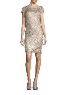 CALVIN KLEIN Sequined Mesh Overlay Dress