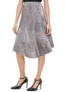 Calvin Klein Sequined Pull-On Skirt