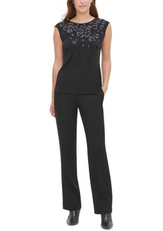 Calvin Klein Sequined Sleeveless Top