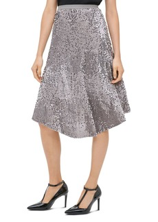 Calvin Klein Sequined Velour Midi Skirt