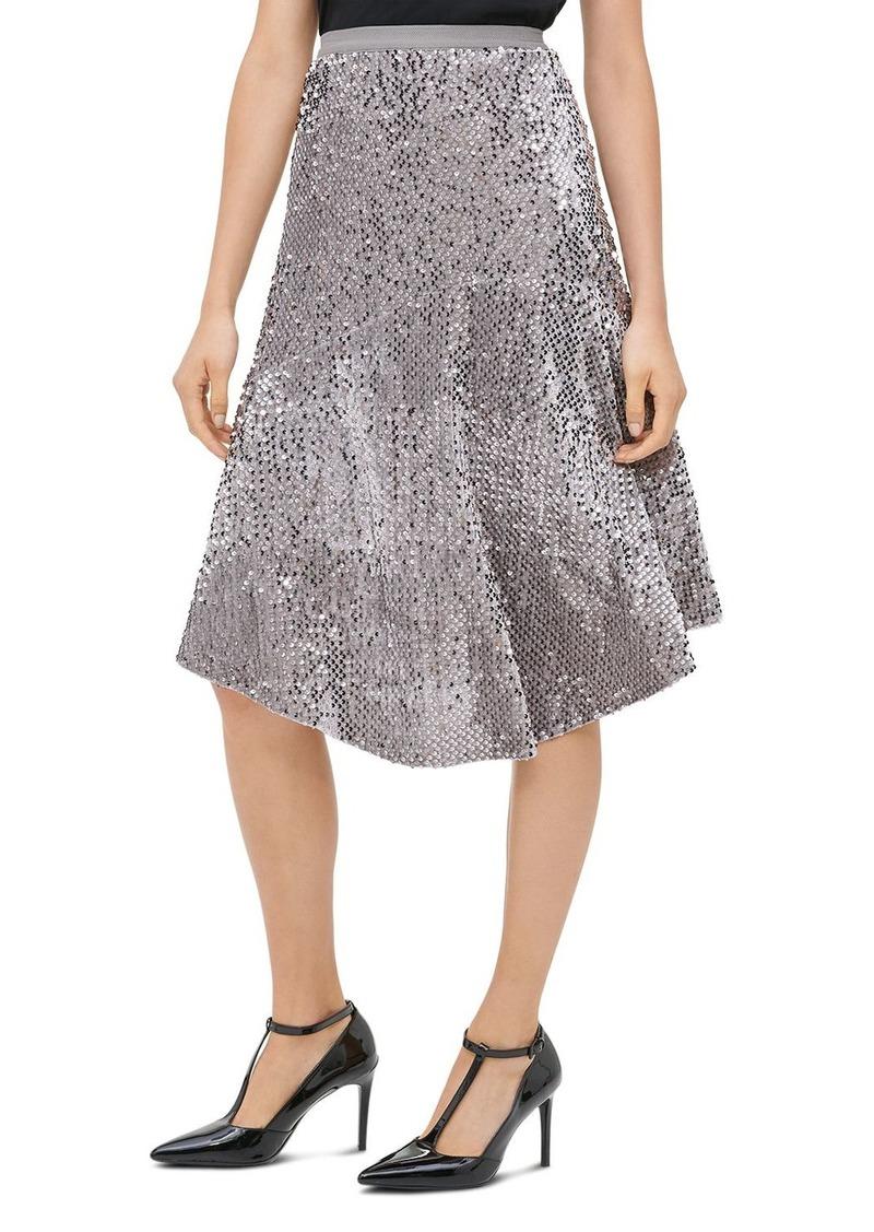 Calvin Klein Sequined Velour Midi Skirt