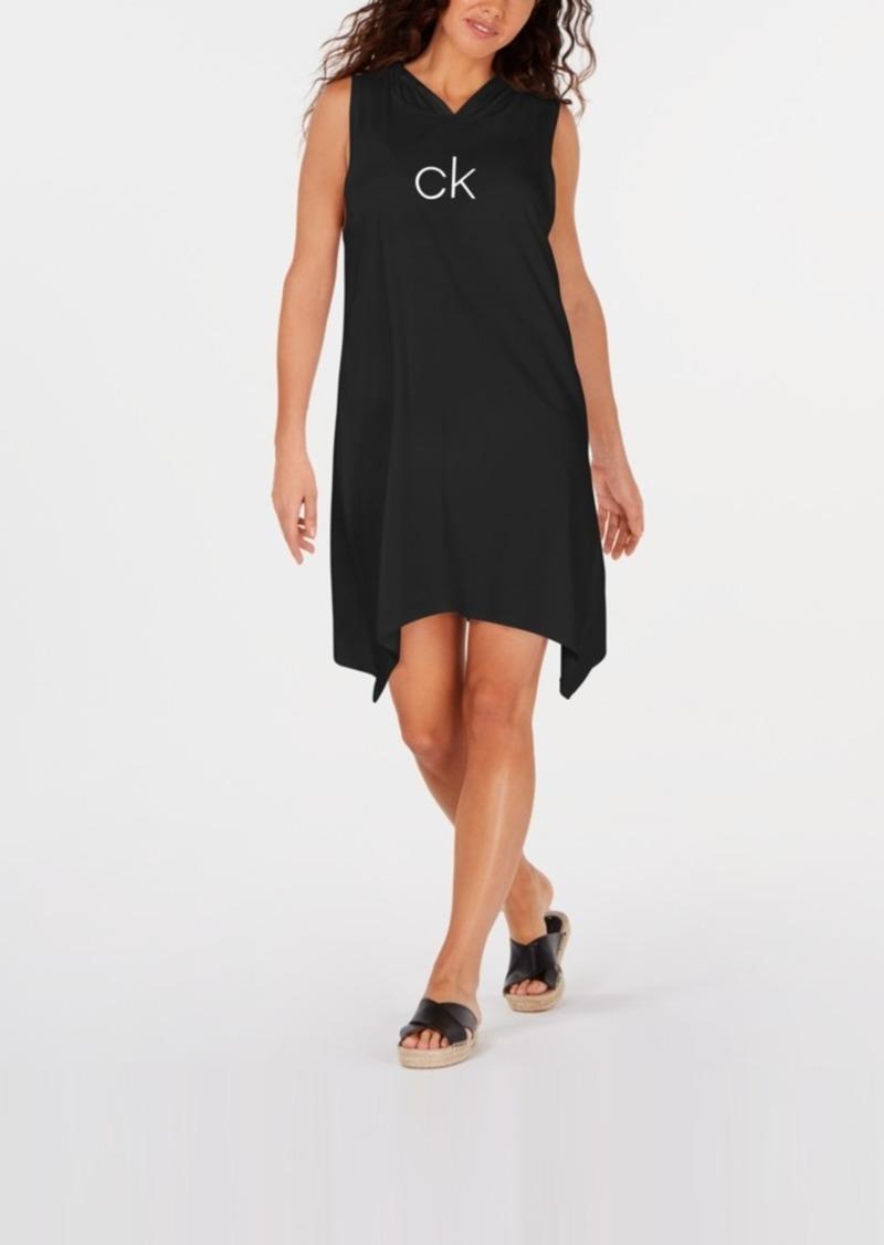 Calvin Klein Shark-Bite Hooded Cover-Up, Created For Macy's Women's Swimsuit