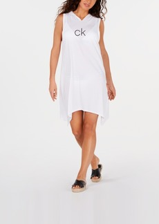 Calvin Klein Shark-Bite Hooded Cover-Up, Created For Macy's Women's Swimsuit