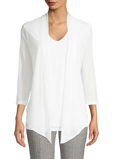 Calvin Klein Shawl Collar Twofer