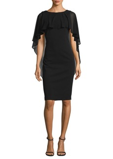 Calvin Klein Shawl Overlay Sheath Dress