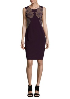 Calvin Klein Sheath Dress With Design