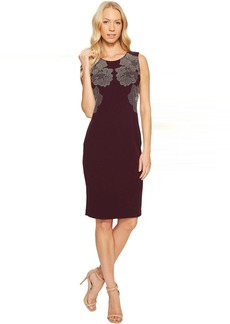 Calvin Klein Sheath Dress with Floral Studs