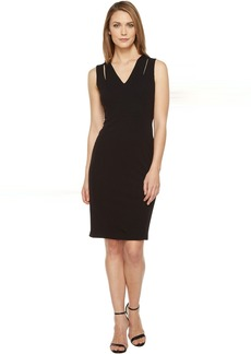 Calvin Klein Sheath Dress with Shoulder Cut Outs