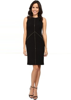 Calvin Klein Sheath Dress with Zipper Detail CD6X1263