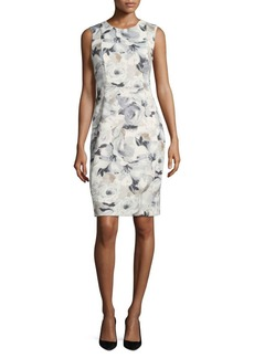 Calvin Klein Sheath Latte Dress